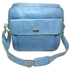 70's vintage SAMSONITE  travel shoulder bag Blue